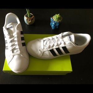 Adidas Neo Baseline White and Black Sneakers